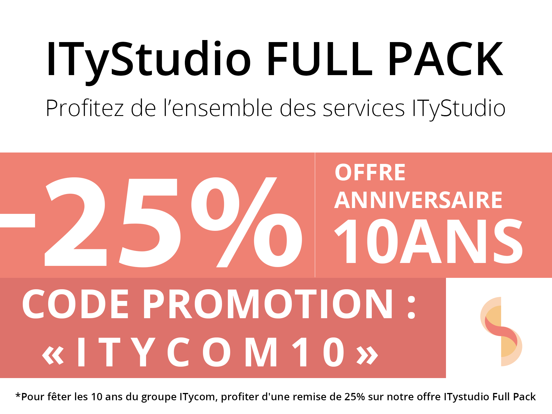 Réduction ITyStudio Full Pack